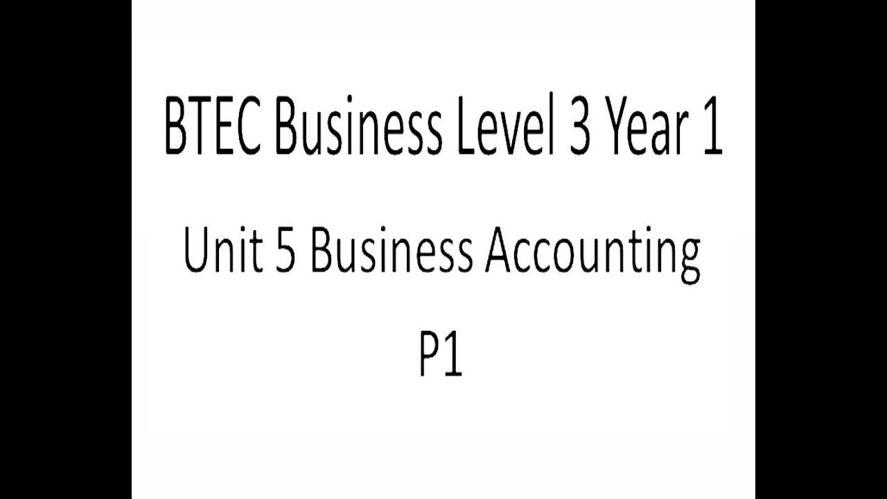Btec buisness level 3 unit 1