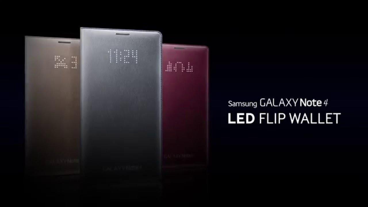 watch a3cb7 c0f33 Etui Samsung Led Flip Wallet do Galaxy Note 4