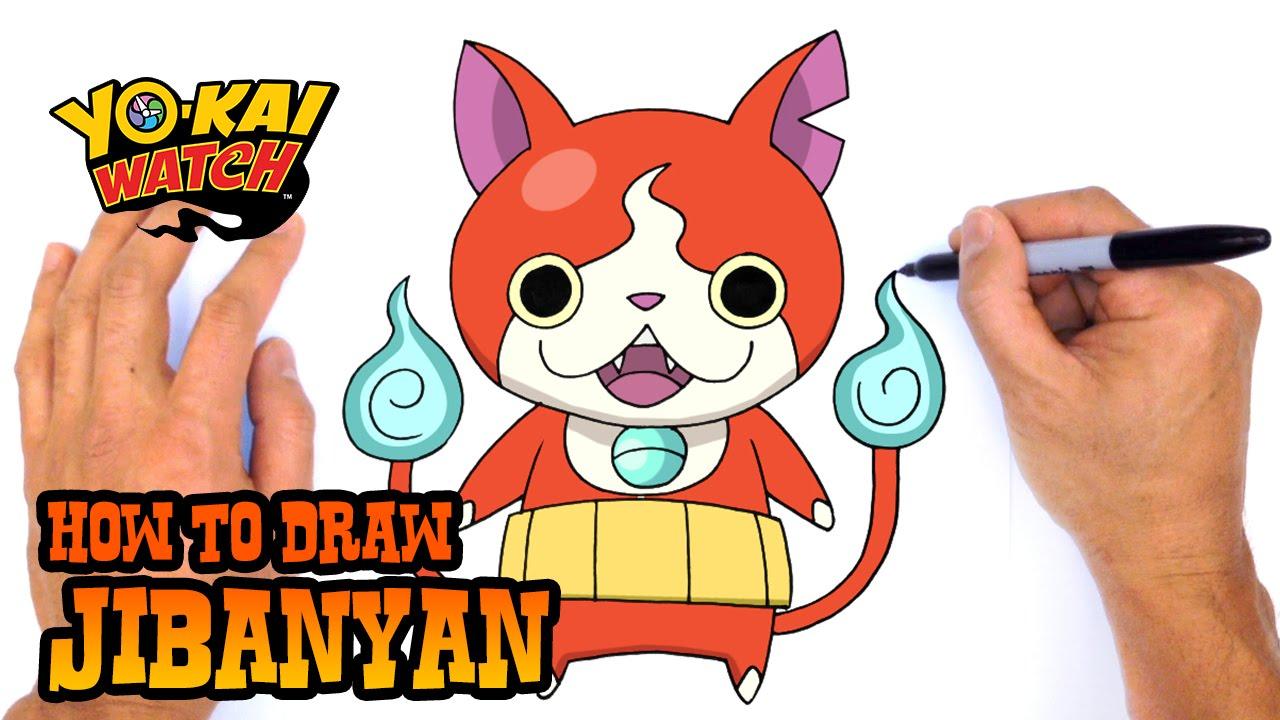 how to draw jibanyan yo kai watch youtube