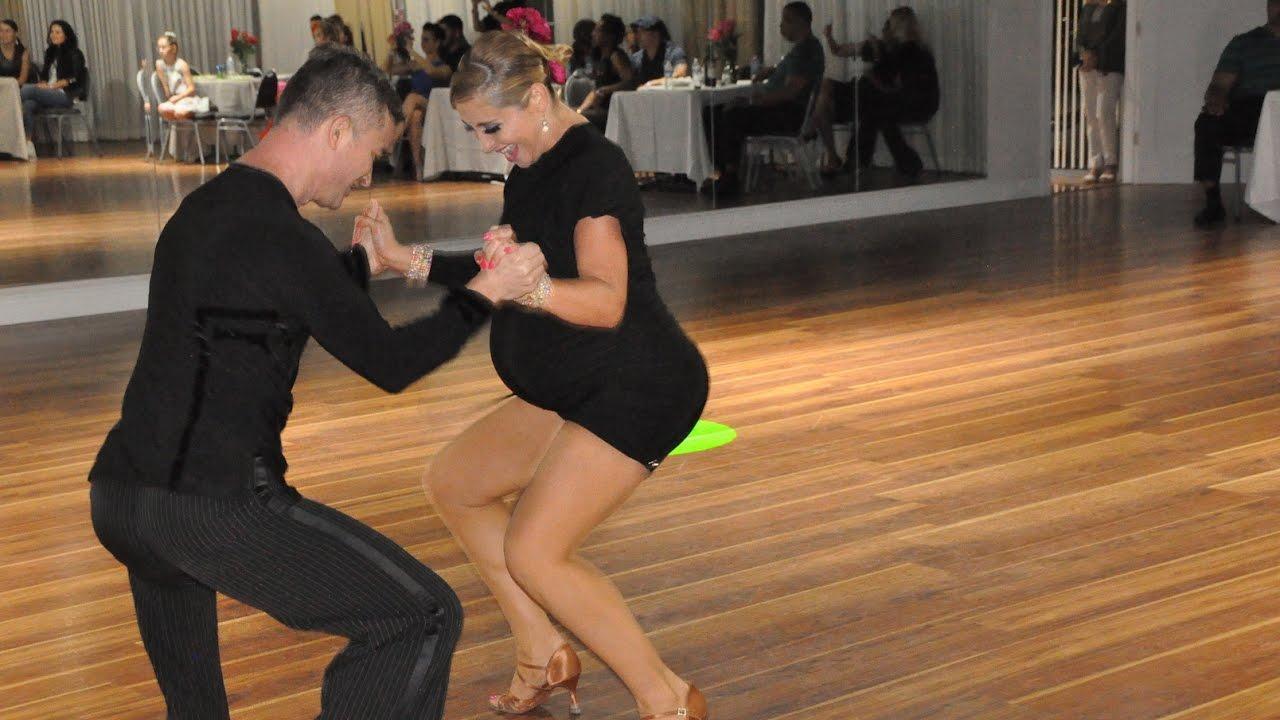 PREGNANT WOMAN BALLROOM DANCING (SALSA) #1