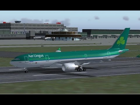 Dublin EIDW to New York JFK KJFK FSX Aer Lingus A330