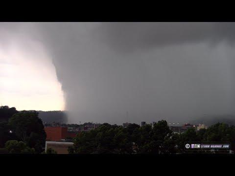 Tornado-producing supercell in Charleston, West Virginia - June 24, 2019