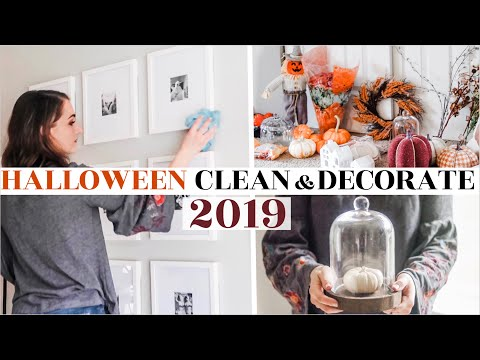 FALL CLEAN + DECORATE WITH ME 🎃|Halloween / Harvest decor ideas | cozy + classy | Natalie Bennett