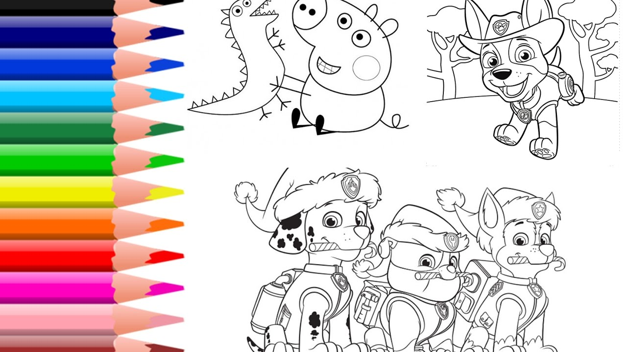 How To Color Paw Patrol Coloring Pages Peppa Pig Colouring Book