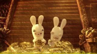 Смешной мультик. Бешеные кролики.  Кролики и Сокровища Майя.