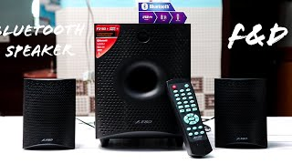 F&D F210X Bluetooth Speaker 2.1 Unboxing & Review