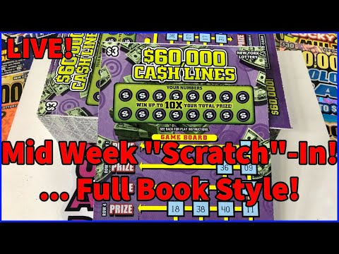 $60,000 Cash Lines! Full Book!   New York Lottery Scratch Off Tickets