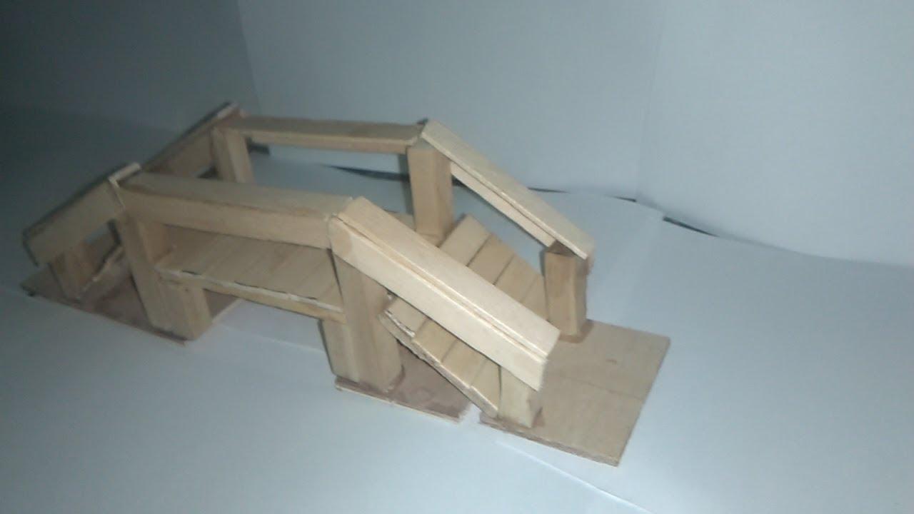 Como hacer un puente para pesebre youtube Modelo de viviendas para construir