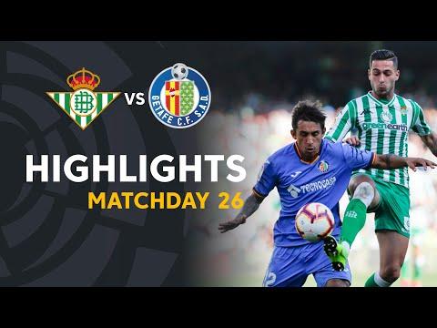 Highlights Real Betis vs Getafe CF (1-2)