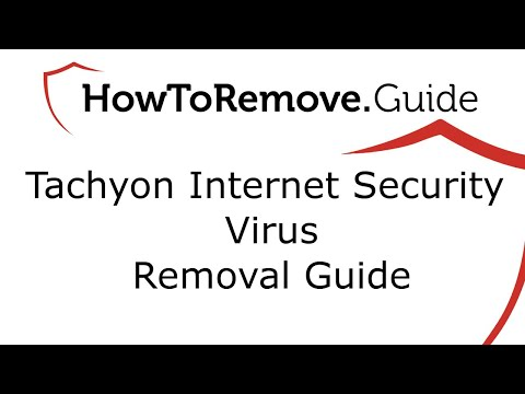Uninstall Tachyon Internet Security Virus