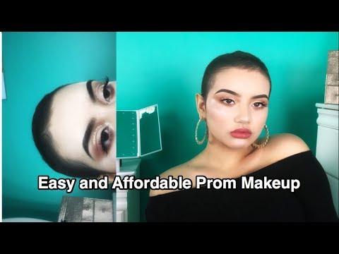 EASY Prom Makeup: Golden Orange AFFORDABLE DRUGSTORE  Look 2018
