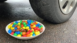 Crushing Crunchy & Soft Things by Car! - EXPERIMENT: CAR VS M&M's