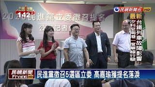 民進黨徵召5選區立委 汐止將自提人選-民視新聞