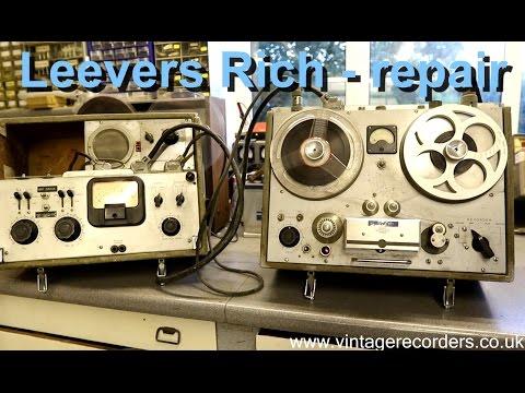 Leevers Rich Series Cs vintage reel to reel tape recorder repair