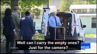 VP Mike Pence delivers boxes to nursing home in Virginia