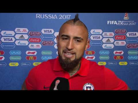 Arturo Vidal - Post-Match Interview - Match 16: Chile v Germany - FIFA Confederations Cup 2017