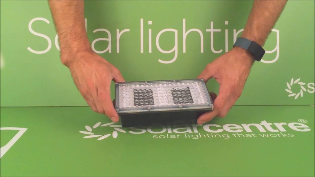 Paverlight Solar Brick Lights Set Of 2 Youtube