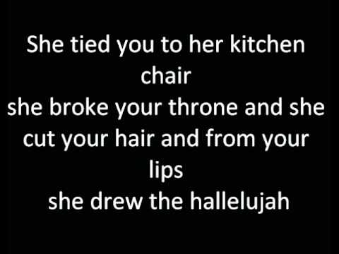 Hallelujah-Alexandra Burke lyrics