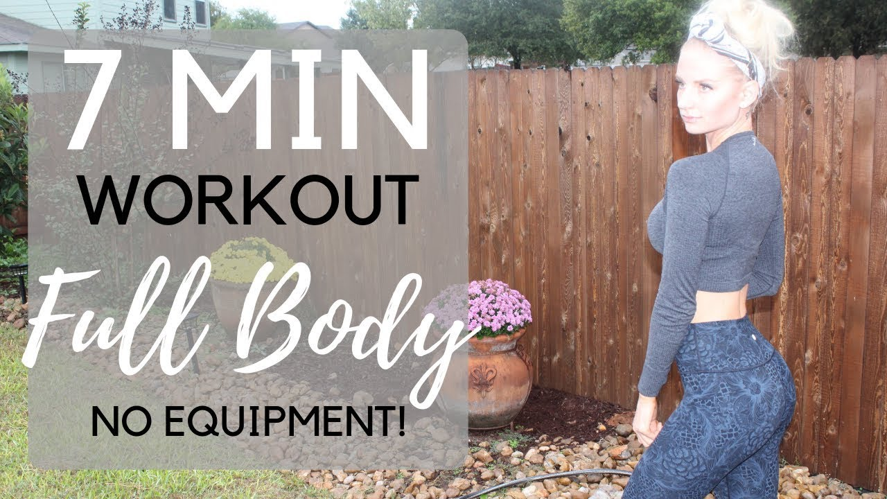 Full Body Workout Hiit 7 Minute At Home Workout Routine For Women