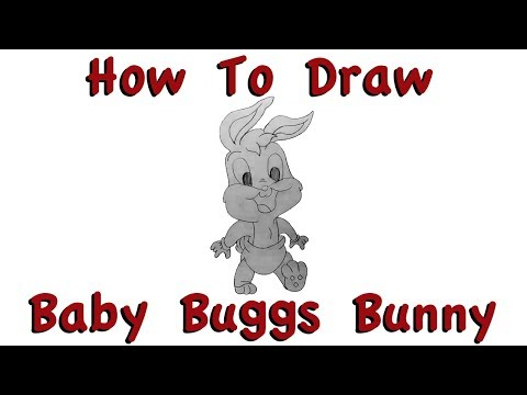 How To Draw Baby Buggs Bunny Preview (Baby Looney Tunes) | 1 Minute Time Lapse | Speed Drawing