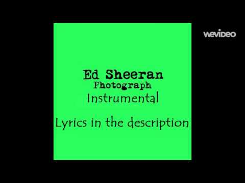 Ed Sheeran Photograph - Original Instrumental/Karaoke