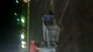 fun at kroger with shopping cart