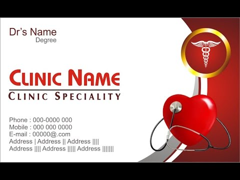 how to make business card for clinic or doctors - Doctor Business Card