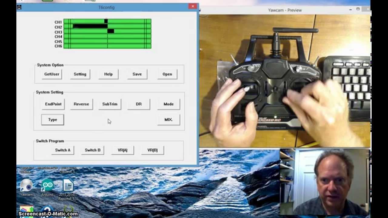 FlySky T6Config Setup on Windows 8 for Arduino Robot Control