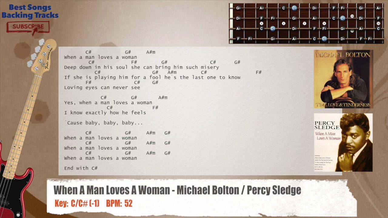 When a man loves a woman with lyrics