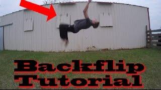 backflip tutorial   super simple