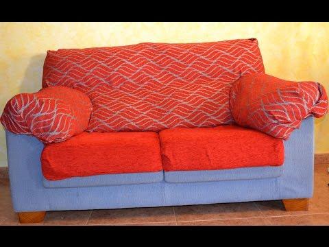 Mujeres se dedican a tapizar muebles doovi - Como hacer fundas para sofas paso a paso ...