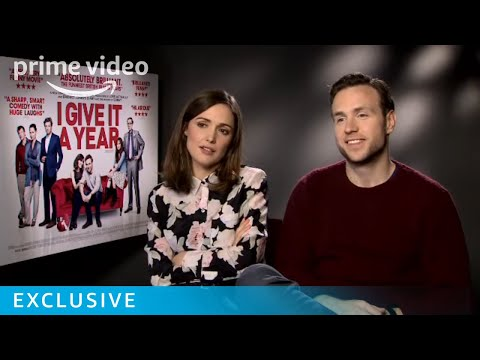 Rafe Spall & Rose Byrne I Give It a Year Interview | Amazon Prime Video