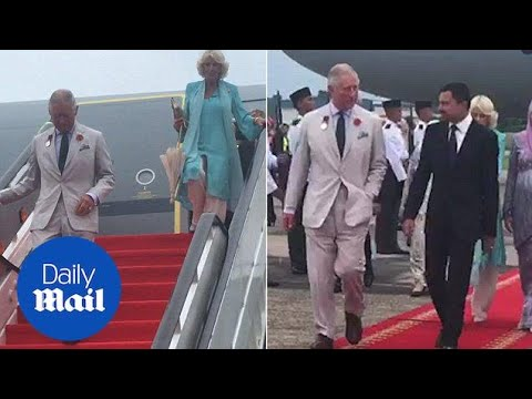 Prince Charles arrives in Brunei with Camilla during Asia tour - Daily Mail