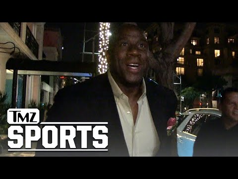 Magic Johnson Speaks On Lakers Tampering Fine, Paul George | TMZ Sports