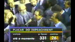 Câmara autoriza o processo de impeachment de Collor