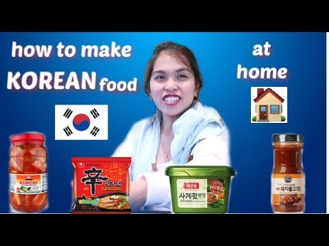 HOW TO MAKE KOREAN FOOD AT HOME!!!!!