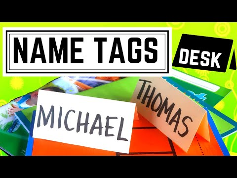 NAME TAGS: Cheap & Easy Name Tags for your class
