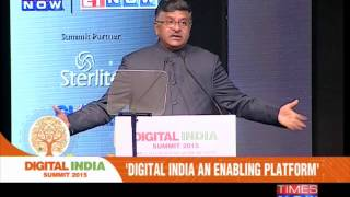 Union Minister Ravi Shankar Prasad inaugurated the Digital India Summit 2015