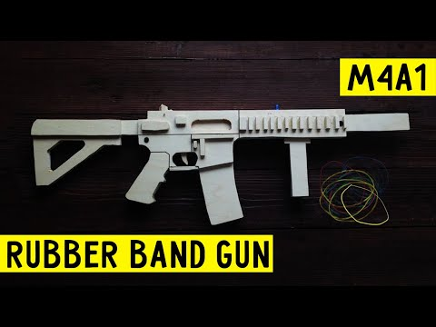 how to make a rubber band gun easy