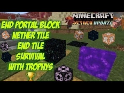 How To Get End Portal Blocks & Tiles Nether Portal Tile Structure Blocks To Survival Glitch
