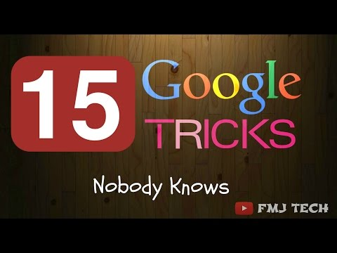 Google Tricks That Nobody Knows