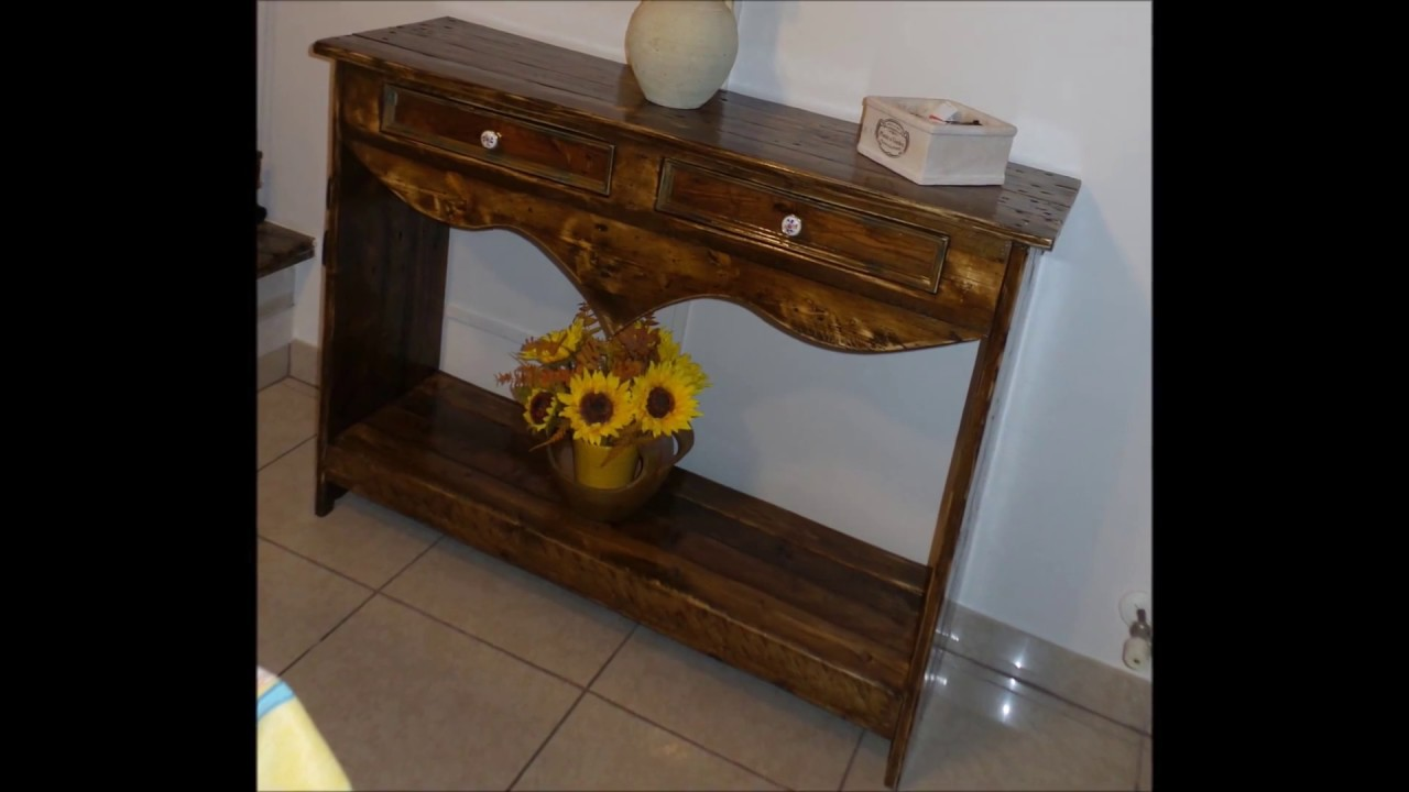 Mobile rustico in legno fai da te riciclo vecchi bancali - Mobile legno fai da te ...