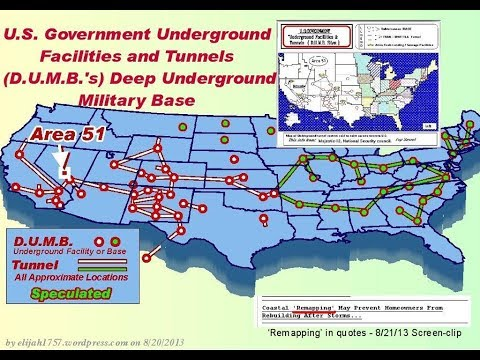THIS WILL SHOCK YOU   A LIST OF UNDERGROUND BASES IN THE USA