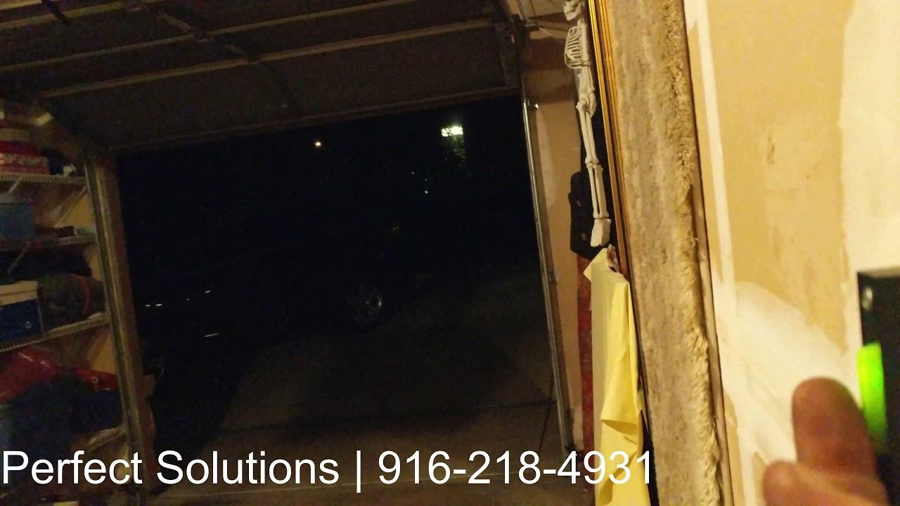 Broken Garage Door Chain Repair Youtube