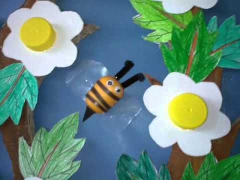 Mural De Primavera Con Material Reciclado Youtube
