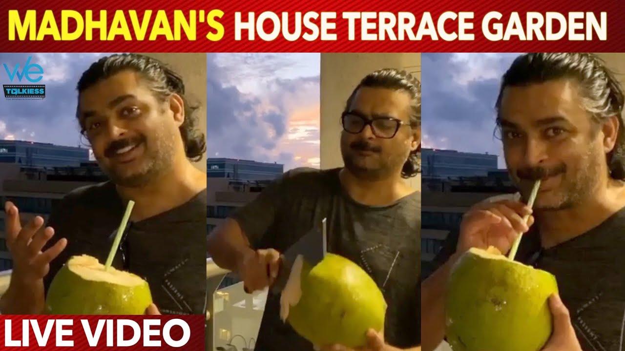 Download Actor Madhavan's House Terrace Garden Video - Madhavan Fun Moments at his home   VIRAL VIDEO