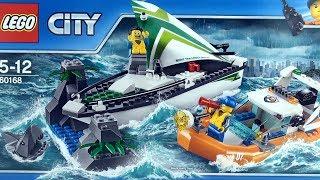 Lego City Sailboat Rescue Great White Shark 60168 - Lego Coast Guard crew sailor - Lego Speed Build