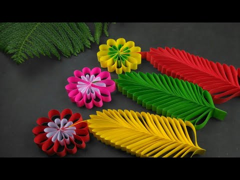Paper Leaves | Paper Leaf | Paper Crafts For School | Paper Flowers | Paper Leaves Making