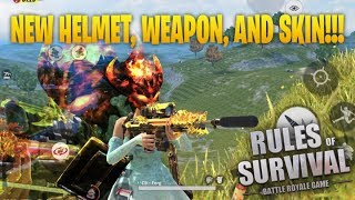 BUYING ALL THE NEW SKINS! New Gun Skin for DSR and NEW HELMETS! ROS MOBILE RULES OF SURVIVAL!