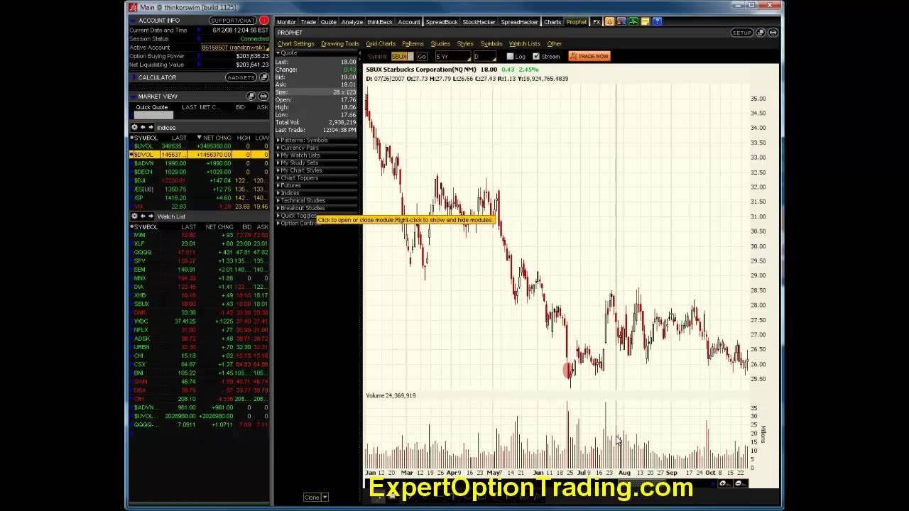 Virtual Options Trading - Traders Log